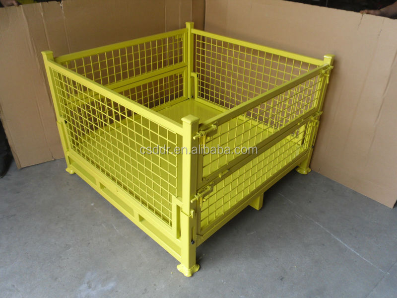 China Supplier Foldable Steel Crate  Pallet Box   Bin for material storage    transport. China Supplier Foldable Steel Crate Pallet Box   Bin For Material