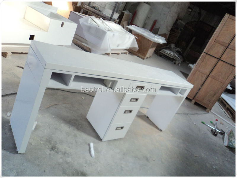 Artificial Marble Salon Furniture Manicure Table Nail