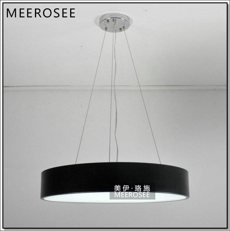 Hot Sale Round Aluminum Light Led Pendant Light Us Black