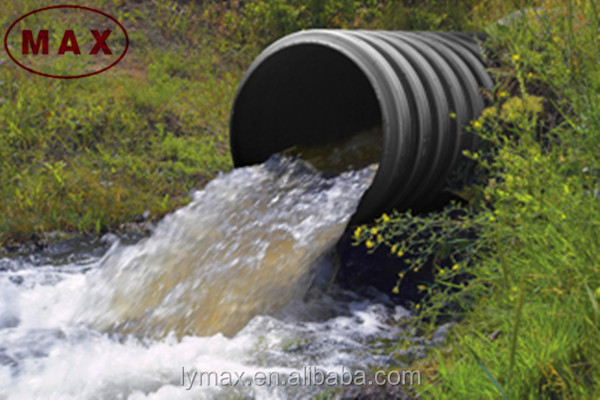 sn8 hdpe high density pe double wall corrugated pipe dwc for drainage systems