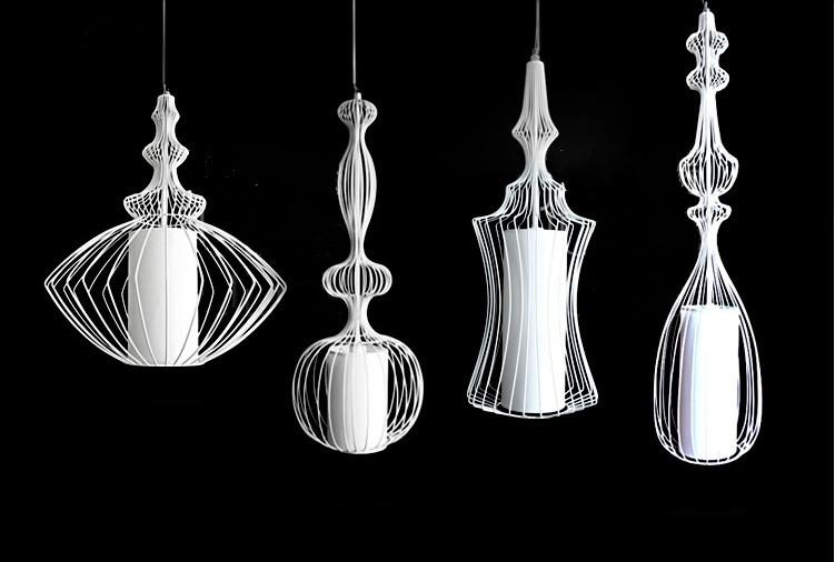 gabbia di ferro luce del pendente abcd lampadario di grandi ...