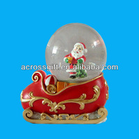 Snow Dome Snowball Souvenir Apple Shape Water Globe With Building ...
