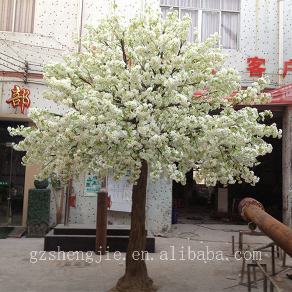 Real Indoor Trees Part - 37: Y Artificial Cherry Blossom Tree , Indoor Real Wood Trunk Artificial Cherry  Blossom Tree