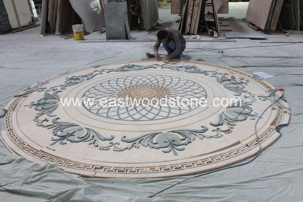 Stone Mosaic Floor Tile Garden Kota Design