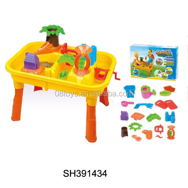 Hot Sale Colorful Beach Tools Toy Kids Playing Water Sand Table For Summer