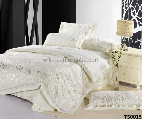 Imitated Silk Jacquard Bedding Set Bridal Bed Sheet Luxury Wedding Whole