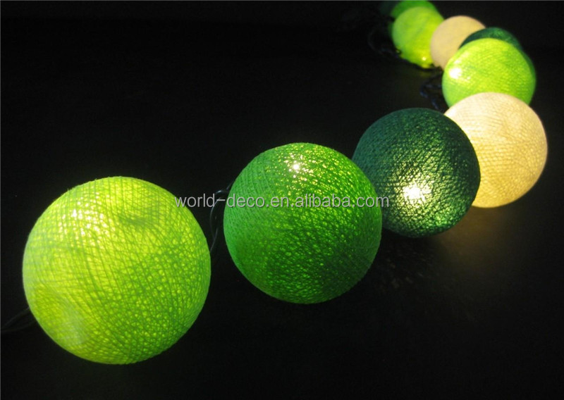 20 Led Cotton Ball String Light For Party Decor / Wedding Happy ...
