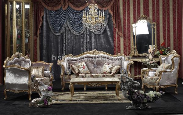 baroque style living room sofa set retro wood carving living room furniture whole set - Whole Living Room Furniture Sets