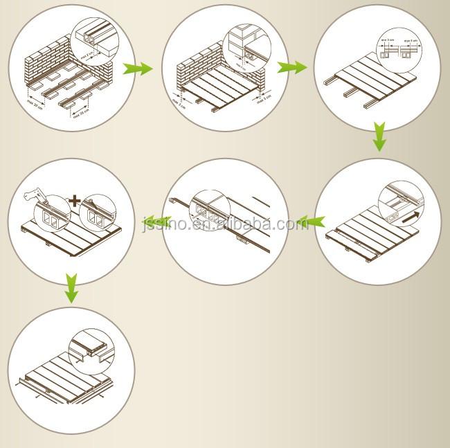 Interlocking Waterproof Composite Deck Tile Wpc