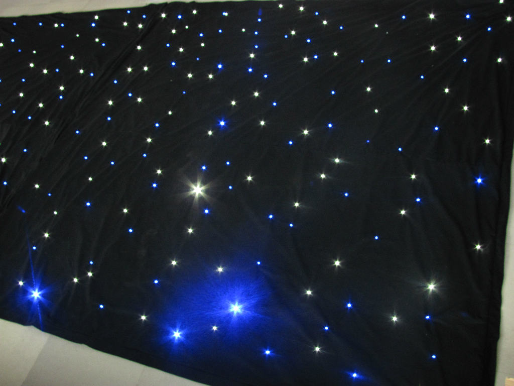 Led curtain concert - White And Black Concert Background Cloth Light Led Star Curtain