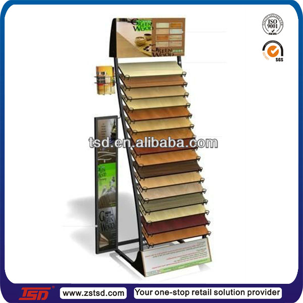 Flooring display racks gurus floor for Laminate flooring displays