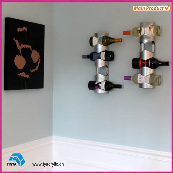 Wall Mounted Acrylic Wine Display Rack