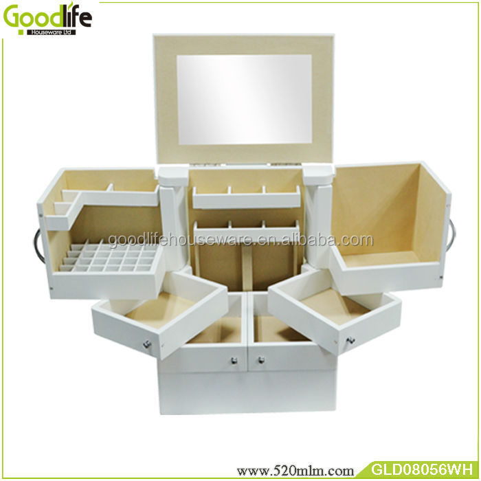 Usa Style Furniture Makeup Organizer 6 Drawers Wooden White - Buy ...