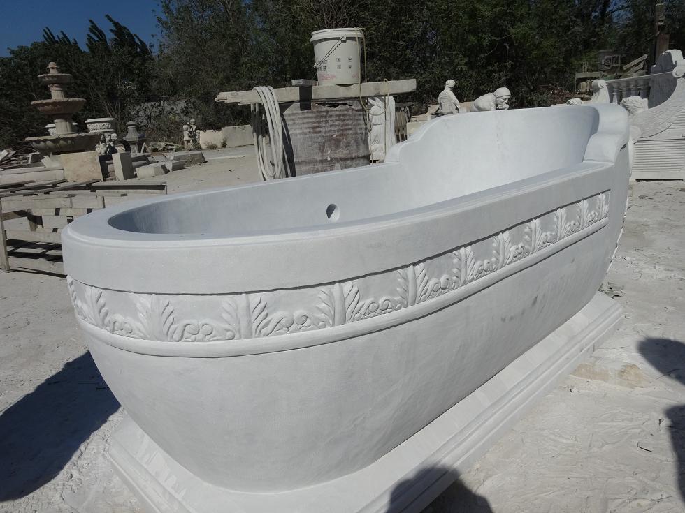 China White Marble Bath Tub Bathtub White Marble Bath Tubs