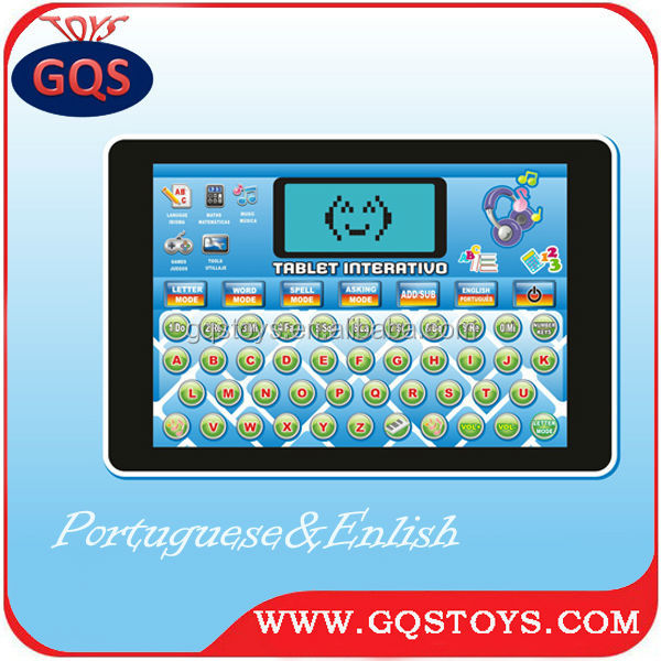 Screen touch! Engels educatief machine speelgoed tablet pc voor kinderen