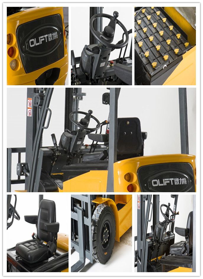 3000kg Four-Wheel Cheap DC/AC Electric Forklift FB30