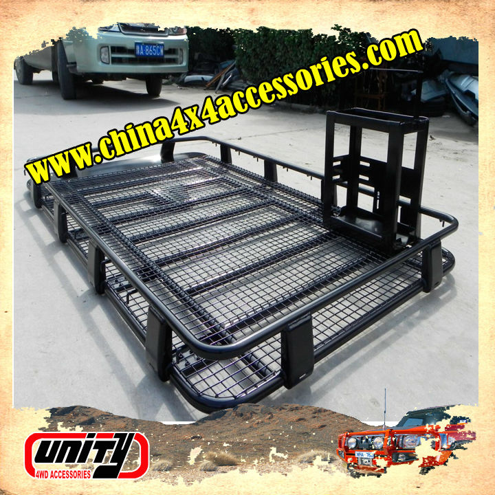 DIY Steel Material Car Roof Rack 220x125 Cm With Jerry Can Mount