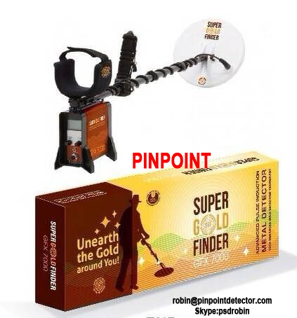 Pinpoint Factory China Bi-level Pulse Indution treasure hunting metal detector GFX7000 deep underground metal detector