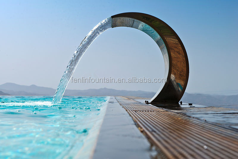 Arc hook spa pool swimming pool stainless steel interior water features buy interior water - Arc swimming pool ...