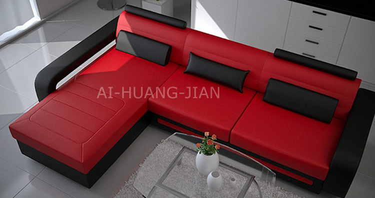 China Small Corner L Shaped Leather Sofa Set Price In India