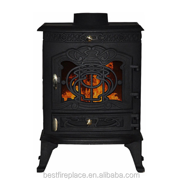 Cheap Antique 6kw Cast Iron Wood Burning Stove For Sale