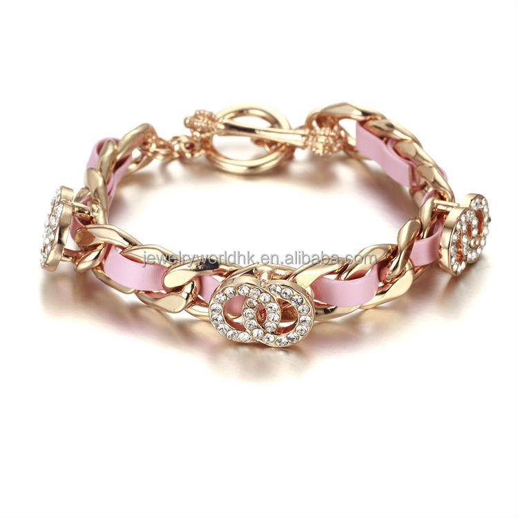 Gold bracelet jewelry design for girls, birthday gift gold ...