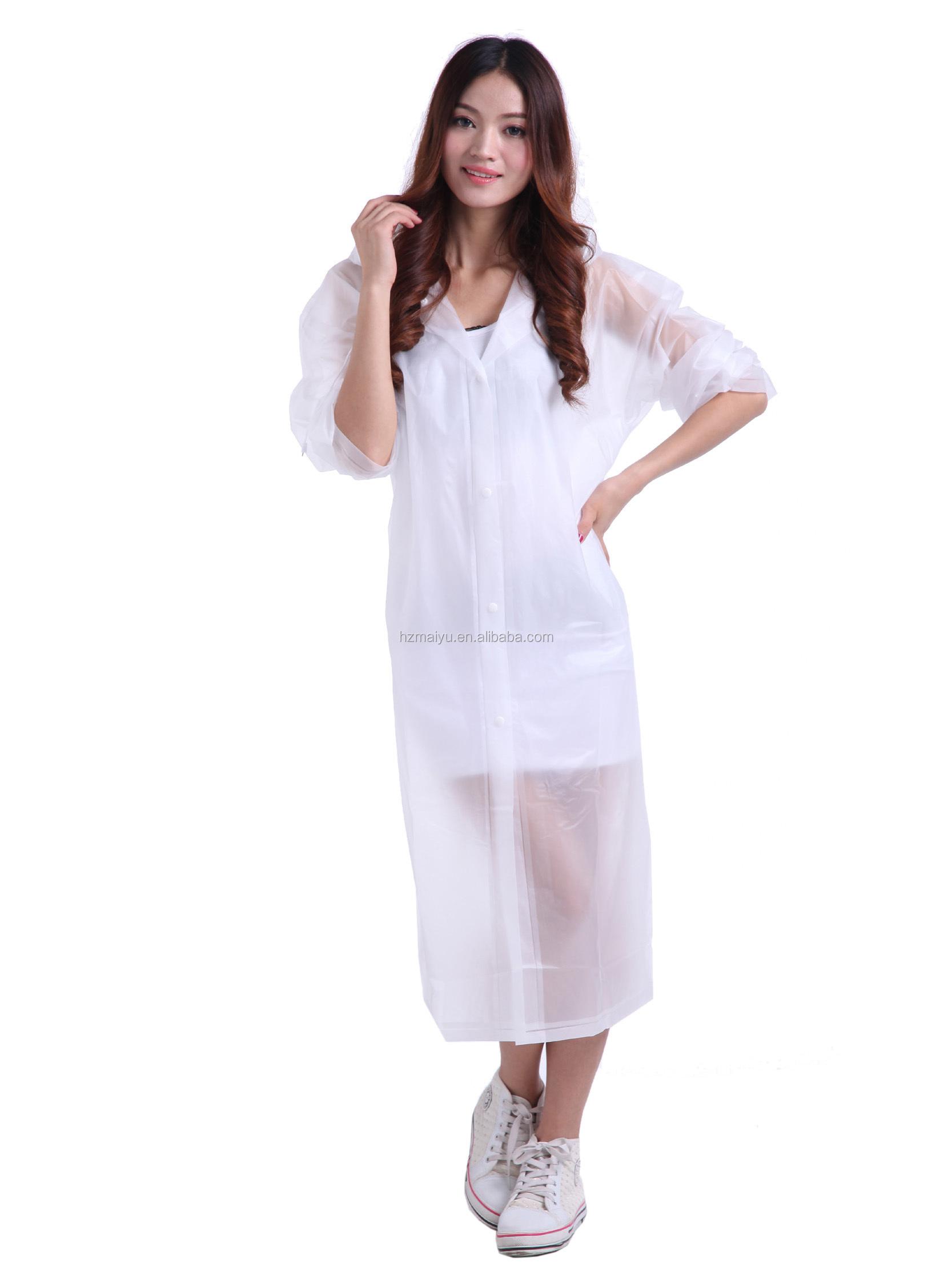 ca93083ff Eva Vinyl Transparent Ladies Plastic Raincoat - Buy Ladies Plastic ...