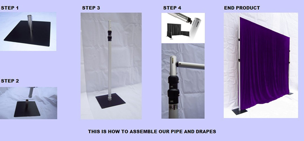 Outdoor Use Pipe And Drape Wedding Backdrop Stand View Wedding