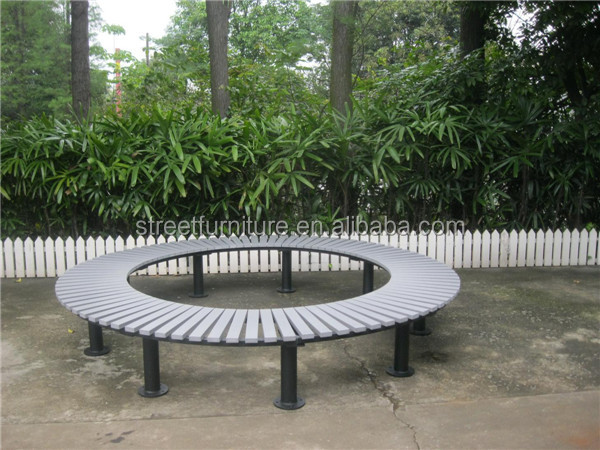 Metal And Recycled Plastic Wood Round Outdoor Garden Tree Bench Buy Round Outdoor Bench Garden