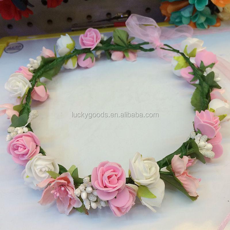 Hot Sale Artificial Rose Pe Flower Head Wreath For Sale - Buy Flower ... 1ed70ac95b2