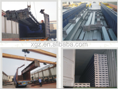 lightweight steel structural construction materials transit warehouse