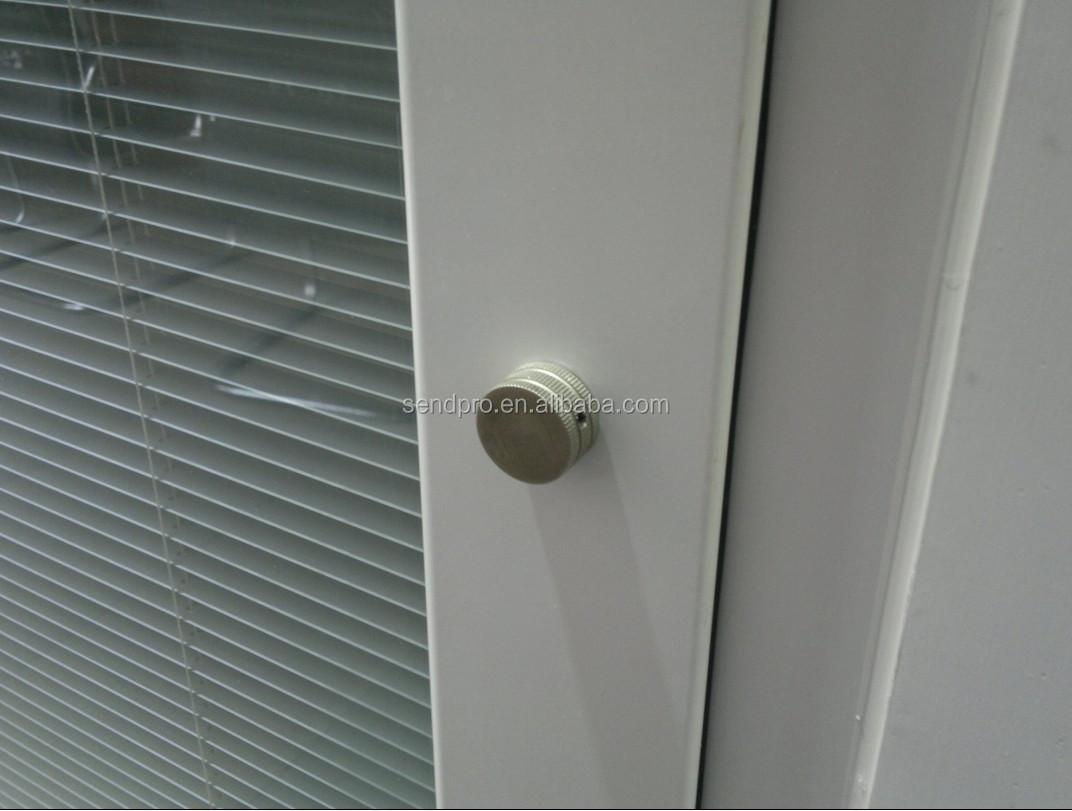 Marco de aluminio personalizado entrada puerta de cristal - Persianas venecianas de aluminio ...