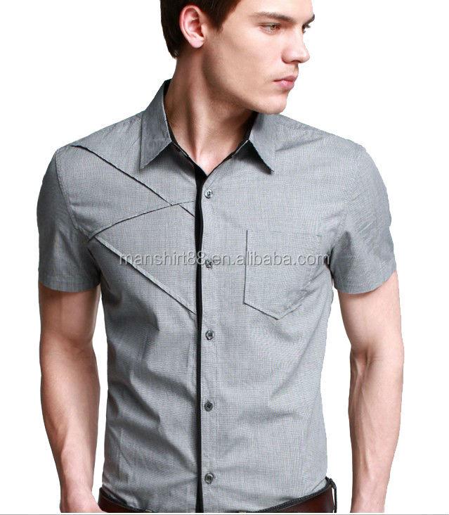 2017 New Superbly Design Men Short Sleeve Slim Fit Casual Shirt ...