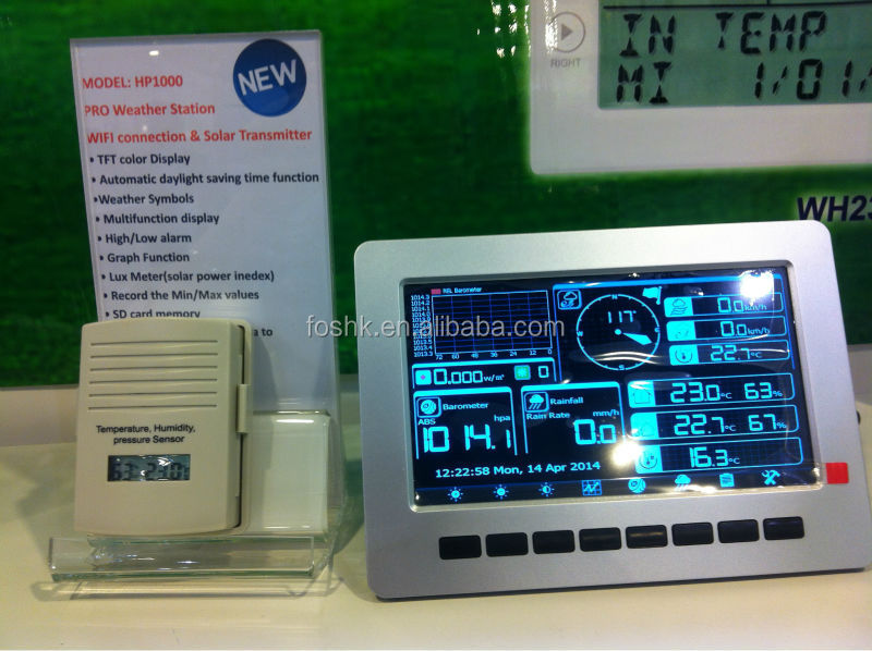 professionnels weather station wifi high tech station. Black Bedroom Furniture Sets. Home Design Ideas