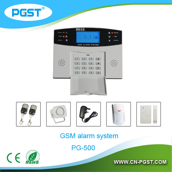 PG-500 315/433Mhz gsm alarm manual, gsm alarm system wireless combine with