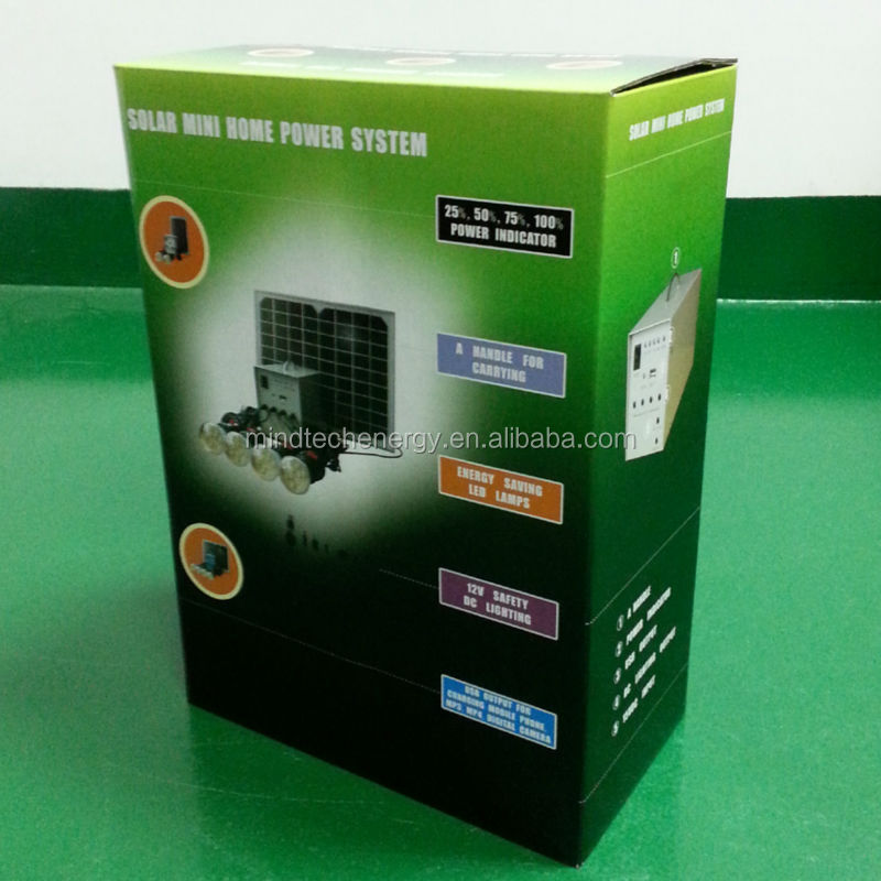 10w Solar Power System 12v Dc Output,12 Watts Solar Kit For Home ...