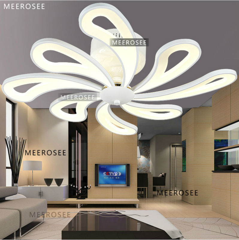 Latest Style Acrylic Lighting Design Luxury Ceiling Fan Modern ...