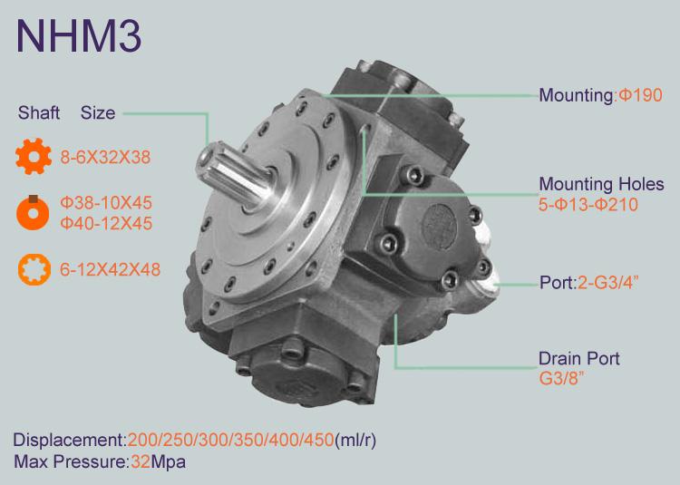 Radial Piston Hydraulic Motor : Nhm hydraulic winch motor buy