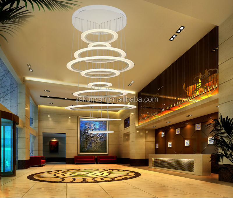Modern Hotel Lobby Led Chandeliers