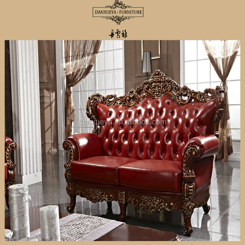 Red Antique Elegant French Style Living Room Luxury Royal