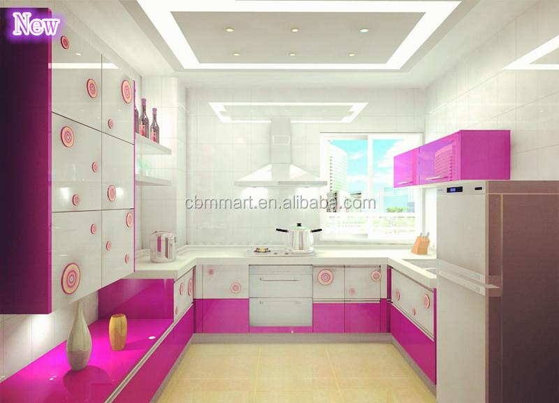 Modular Kitchen Cabinets/ Solid Wood Walnut Kitchen Cabinets