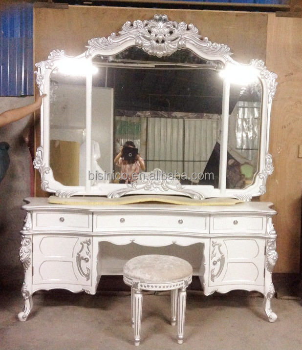 romantische witte kleur ronde bed meubels replica bloemen barokke