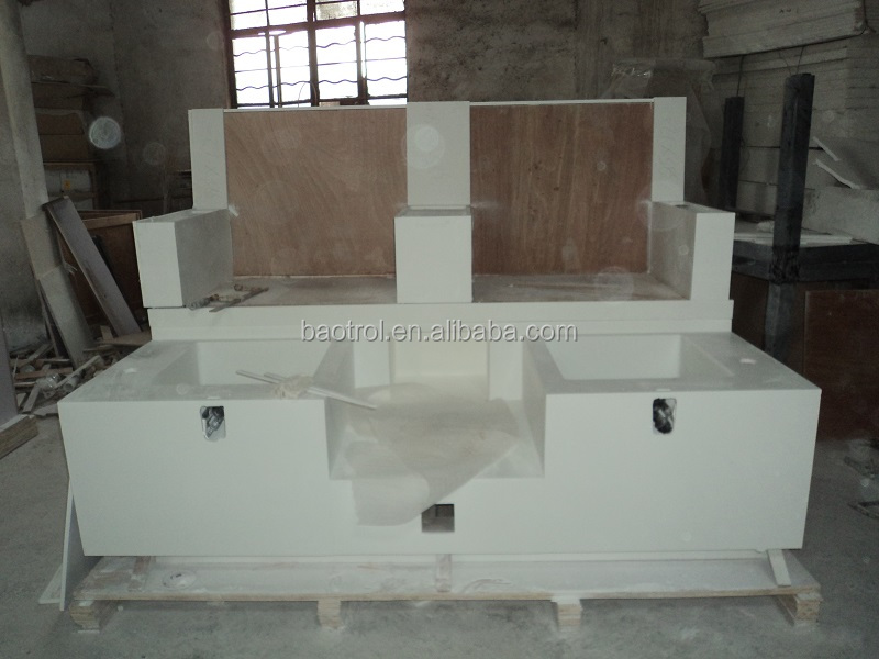 Most Popular Artificial Marble Nail Salon Furniture Station Table Buy Product On Alibaba Com