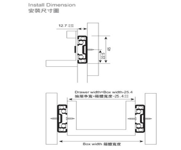 45mm Width Hettich Telescopic Channel Drawer Slide Buy Drawer