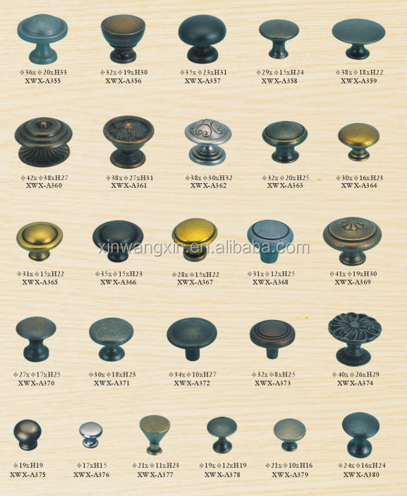 Wholesale Furniture Handle And Knob Types Of Door Knobs