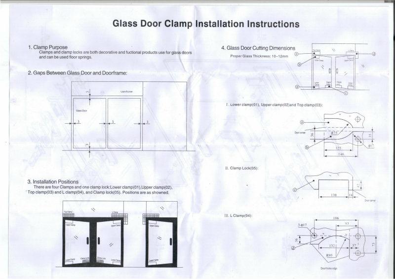 Glass door building Project Top Patch FittingTop sell high quality glass door patch fitting