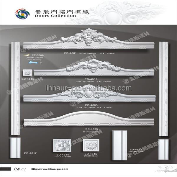 Decorative pu door frame moulding exterior window trim pu for Decorative window trim exterior