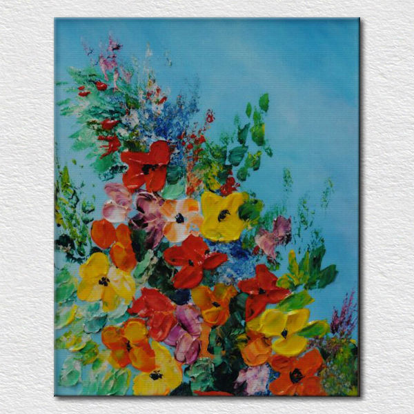 Fabulous Mooie Bloem Olie Het Schilderen Van Paletmes Olieverf Als Cadeau #TW46