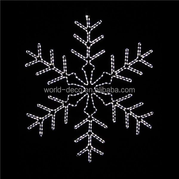 Christmas Window Hanging Snowflake Lights / Christmas Motif Rope ...