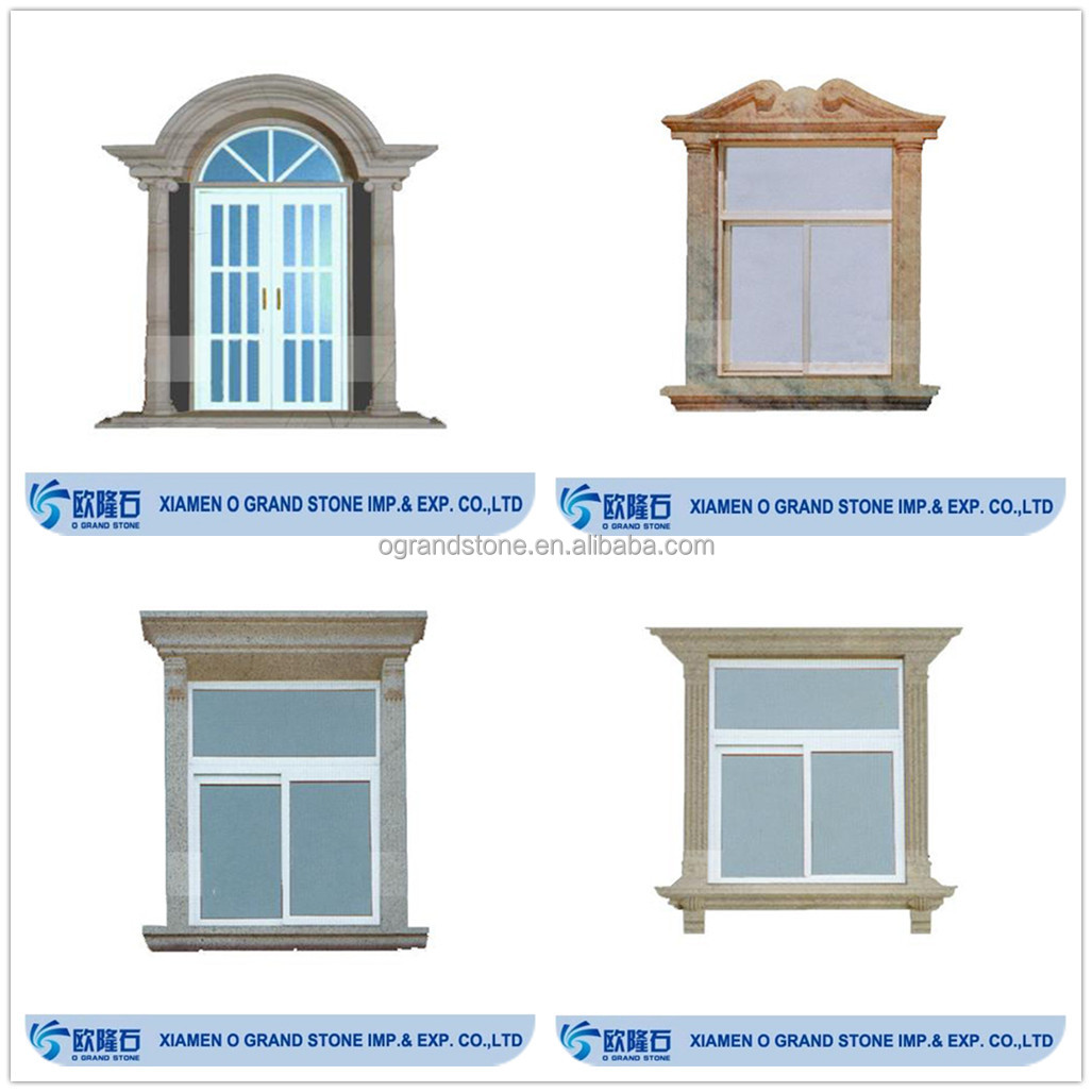 House windows frame design - Custom Design Carved Stone Marble Exterior Window Frame